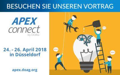 APEX Connect 2018: Besuchen Sie unseren Vortrag!