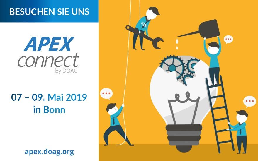 APEX Connect 2019: Besuchen Sie uns!