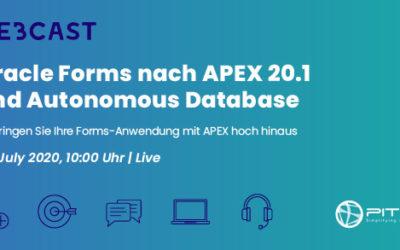 [Webcast] Oracle Forms nach APEX 20.1 und Autonomous Database