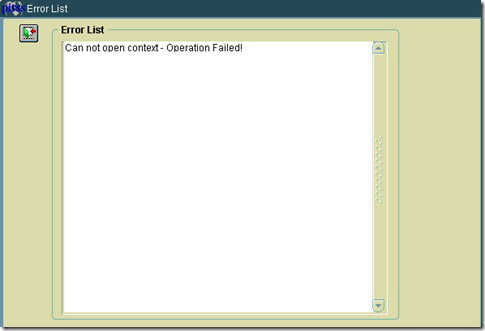Can not open context Forms Load Error