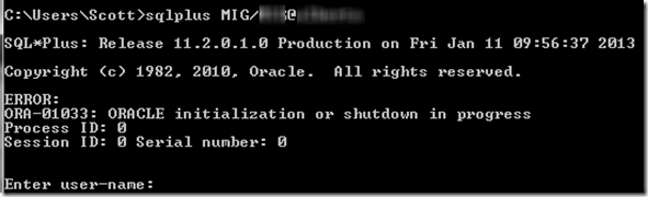 ORA-01333 error occurs in Oracle Database after PC crash
