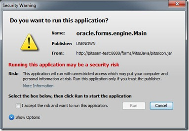 Updated JRE 7u21 Security Warning