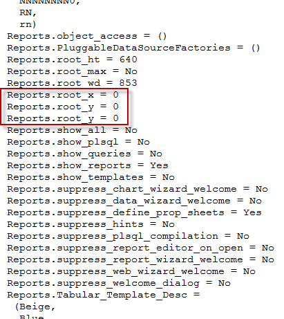Unable to Open Reports Builder 11g (Appears Minimized in Taskbar