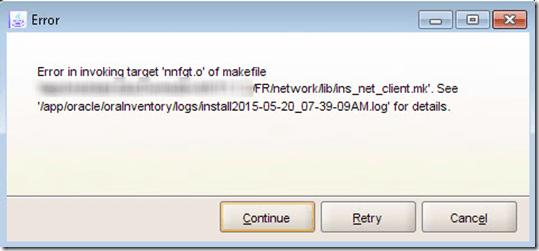Error in Invoking Target of Makefile When Installing Forms
