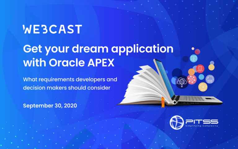 [Webcast] Get your dream application with Oracle APEX